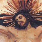Gesù sanguinante in croce