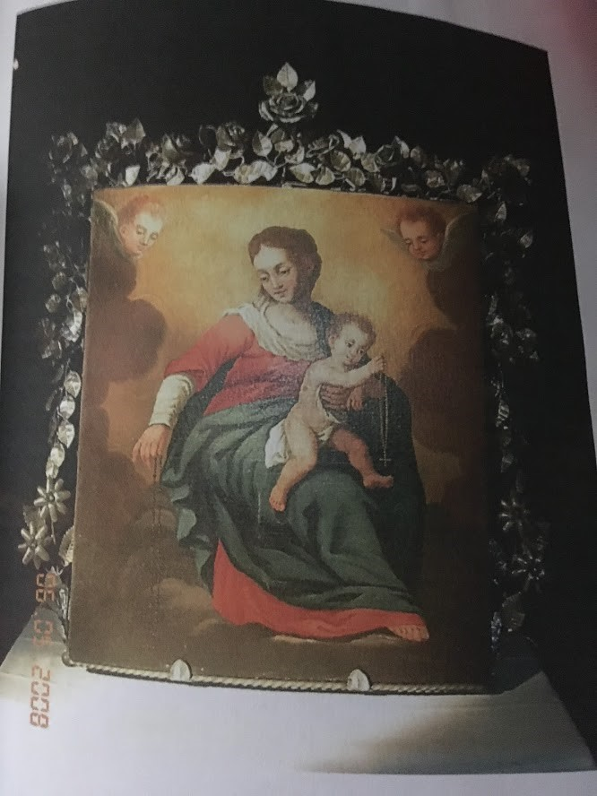 Quadro che raffigura la Madonna con bambino