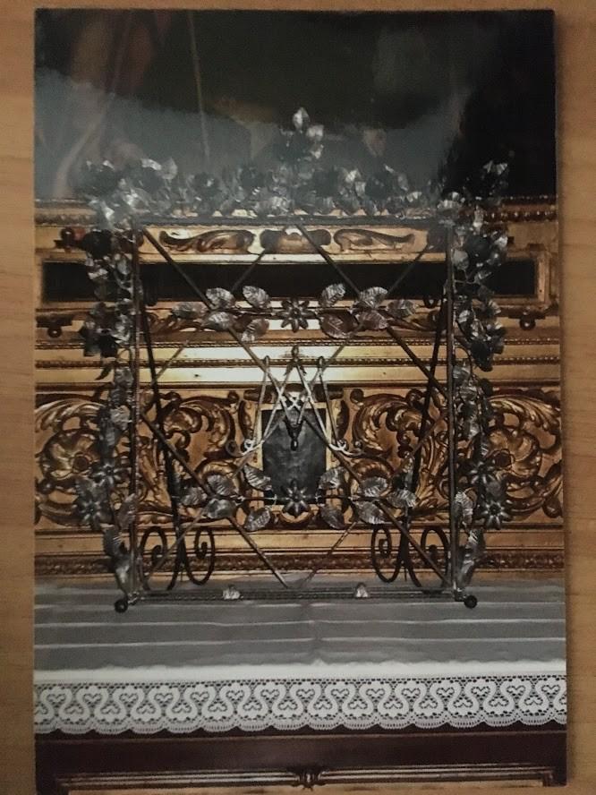 Cornice con fogliame in metallo